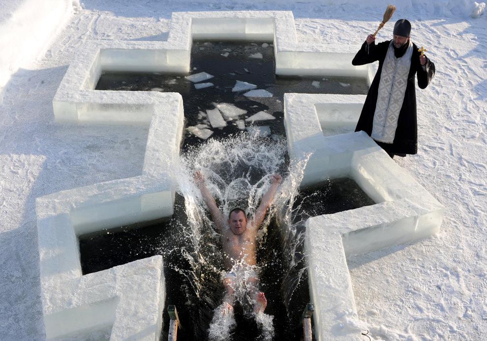 Belarus on January 18, 2013. (Viktor Drachev/AFP/Getty Images)