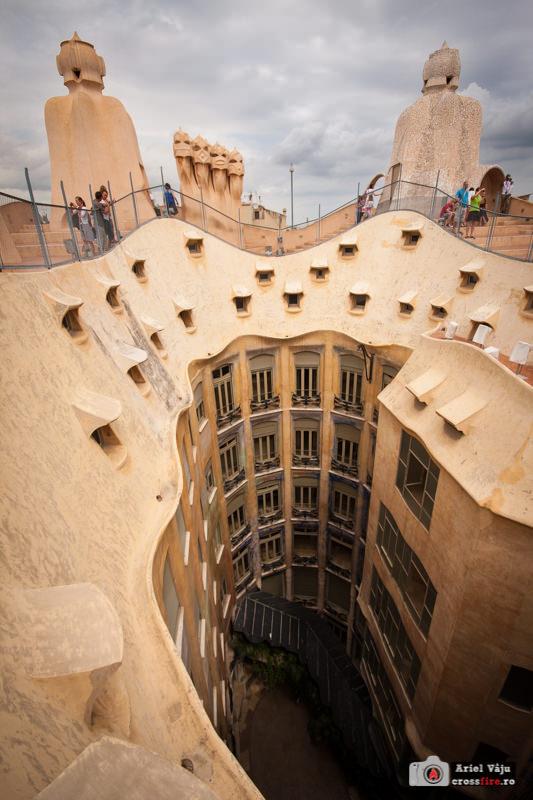 Casa Mila - Barcelona - inside court
